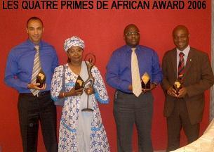 Jean-Marie Rurimirije lors de la remise des African Award à Bruxelles
