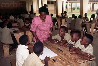 Vue d'une classe du primaire à Bujumbura