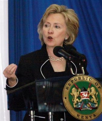 Hillary Clinton au Kenya le 05 août 2009