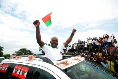 Le président Pierre Nkurunziza en campagne au mois de mai 2010