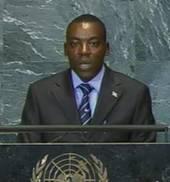 Gabriel Ntisezerana, le 26 sept. 2009 devant l'AG de l'ONU
